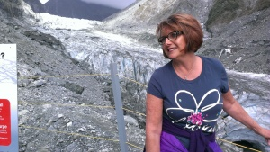 Belinda at Fox Glacier